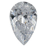 Pear SWAROVSKI GEMS™ Lab Created White Cubic Zirconia