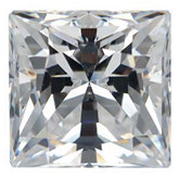 Square SWAROVSKI GEMS™ Lab Created White Cubic Zirconia