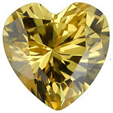 Heart Lab Created Yellow Cubic Zirconia