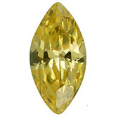 Marquise Lab Created Yellow Cubic Zirconia