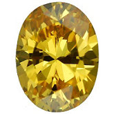 Oval Lab Created Yellow Cubic Zirconia