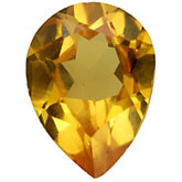 Pear Lab Created Yellow Cubic Zirconia