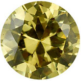 Round Lab Created Yellow Cubic Zirconia