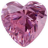 Heart Lab Created Pink Cubic Zirconia