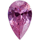 Pear Lab Created Pink Cubic Zirconia