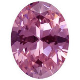 Oval Lab Created Pink Cubic Zirconia