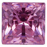 Square Lab Created Pink Cubic Zirconia
