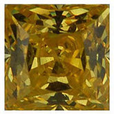 Square Lab Created Yellow Cubic Zirconia