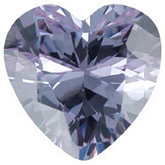 Heart Lab Created Lavender Cubic Zirconia