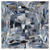 Square White Cubic Zirconia