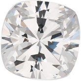 Antique Square Lab Created White Cubic Zirconia