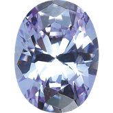 Oval Lab Created Lavender Cubic Zirconia