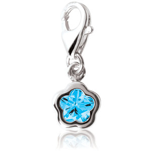BFlower™ Blue CZ Charm