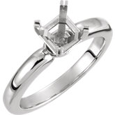 Asscher Solitaire Engagement Ring