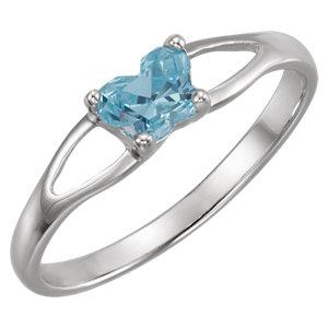 Sterling Silver Bfly® March AZ Birthstone Ring