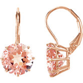 Genuine Morganite Lever Back Earrings