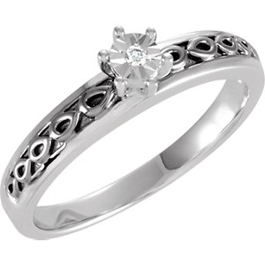 Diamond Illusion Engagement Ring or Band