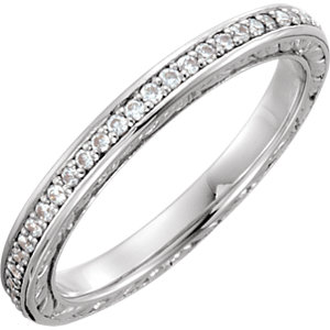 Sculptural Engagement Ring or Eternity Band