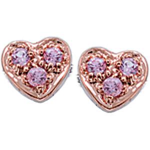 Diamond Princess Pink Sapphire Heart Stud Earrings at Sears.com