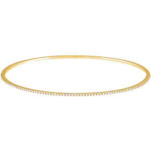 14K Yellow 1 CTW Diamond Stackable Bangle Bracelet