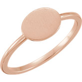Posh Mommy® Oval Engravable Ring