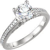 Diamond Semi-mount  Cathedral Engagement Ring or Mounting
