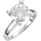 Created Moissanite Antique Square Solitaire Ring