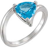 Swiss Blue Topaz Ring or Mounting