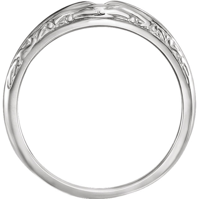14K White Band for 4.8mm Round Ring