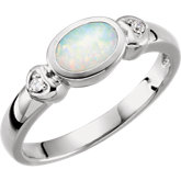 Cabochon Gemstone & Diamond Accented Ring or Mounting