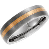 Dura Tungsten® 14kt Yellow Inlay Dome Band
