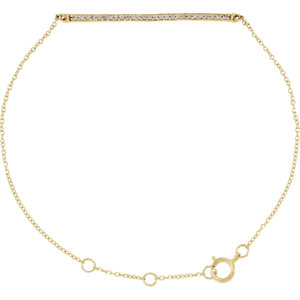 "14K Yellow 1/6 CTW Diamond 6-8"" Bracelet"