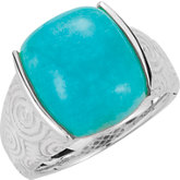 Genuine Amazonite Ring