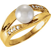 Split-Shank Ring Mounting for Pearl