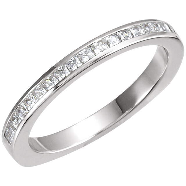 14K White 1/3 CTW Diamond Band for 5.2mm Engagement