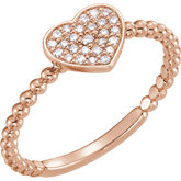 Heart Bead Ring
