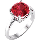 Antique Square Gemstone Scroll Setting® Ring or Mounting