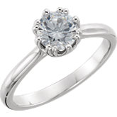 Round 8-Prong Solitaire Engagement Ring Mounting