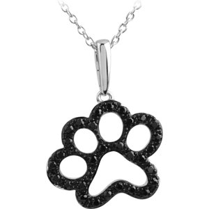 Tender Voices® Animal Paw Print Necklace