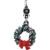 Holiday Wreath Charm with Enamel