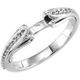 Diamond Sculptural Engagement Ring, Semi-Mount or Mounting