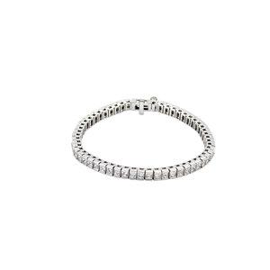 "18K White 9 CTW Diamond Line 7.25"" Bracelet"