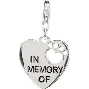 Heart U Back™ In Memory Of Paw Charm