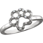 Tender Voices® Diamond Paw Ring