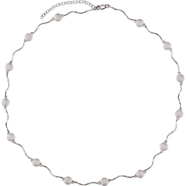 Sterling Silver Adjustable Star Dust Bead 16-18