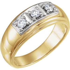 14K Yellow & White 1/3 CTW Diamond Ring