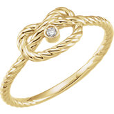 Diamond Rope Knot Ring or Mounting