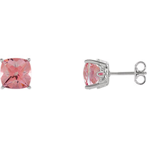 Sterling Silver Baby Pink Passion Earrings