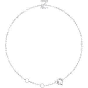"""14K White .06 CTW Diamond Initial """"Z"""" 6-7"""" Bracelet"""
