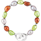 Freshwater Cultured Dyed Pearl Bracelet or Necklace